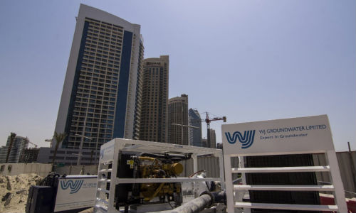 Pumps in Downtown Dubai for overpumping works