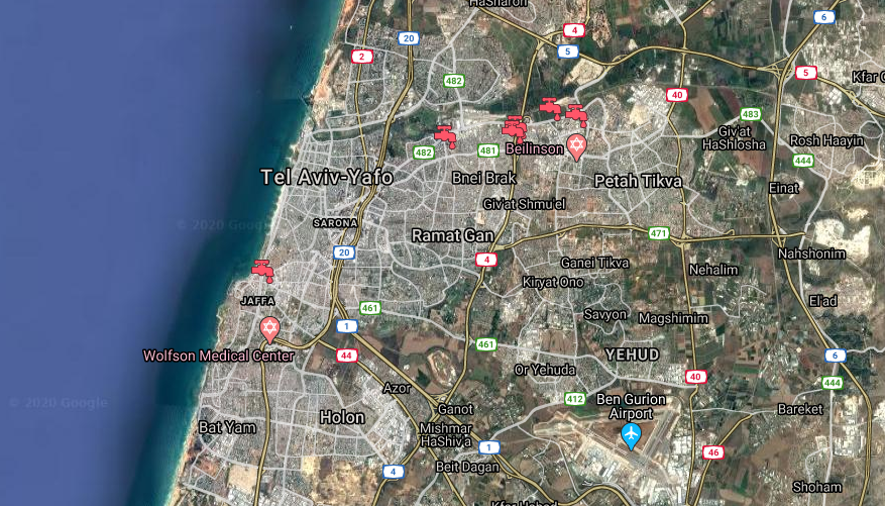 An overview of some of the project locations we've been involved in within Tel Aviv